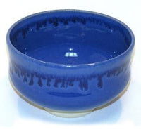 Japanese Mat Cha Tea Bowl - Blue