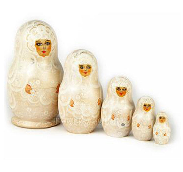 Matrioshka Nesting Dolls - Wedding Doll