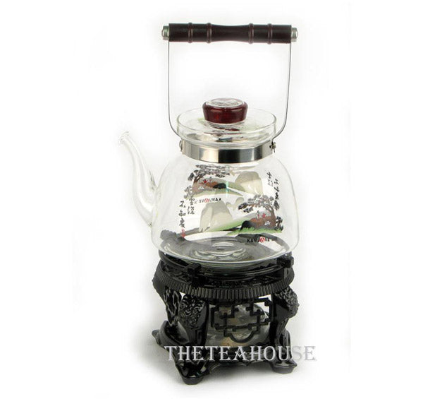 Glass Kettle with Stand