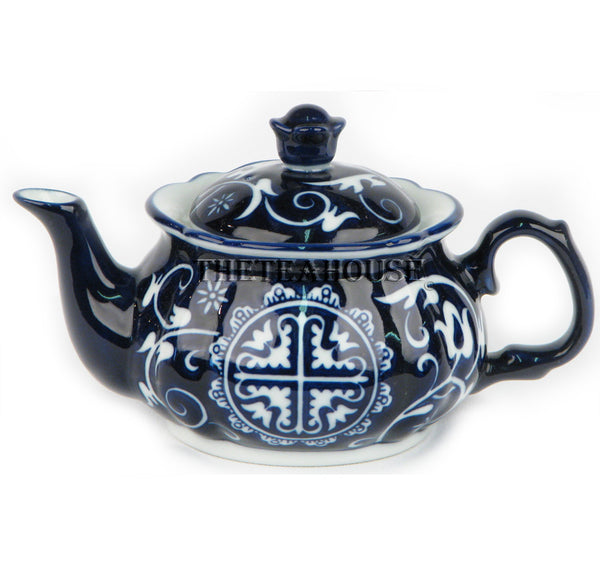 Medallion Blue And White Teapot