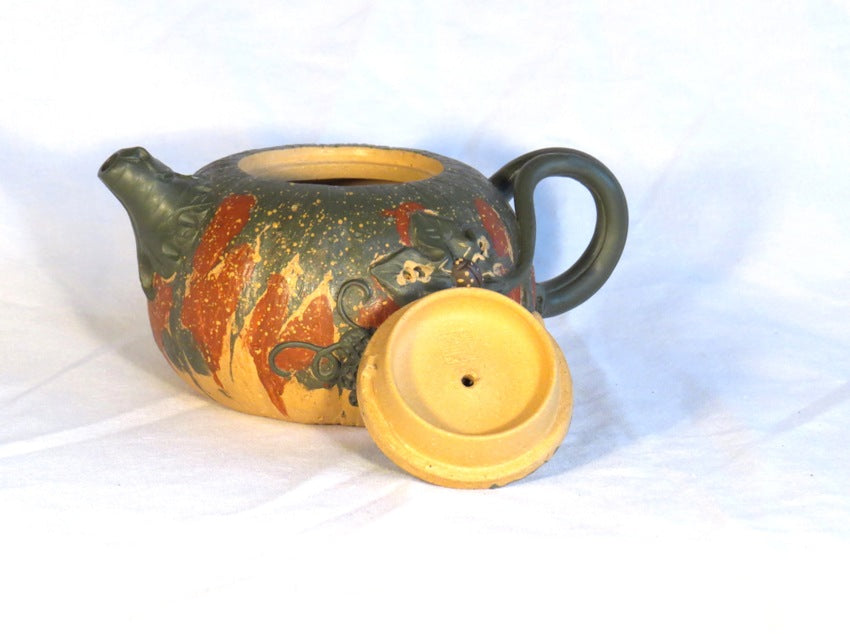 Green and Yellow Gourd Teapot