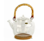 Glass Teapot w/ Infuser and Bamboo Handle