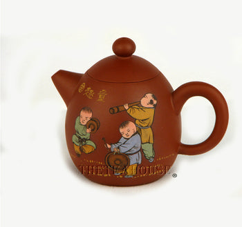 Painted Boys Teapot