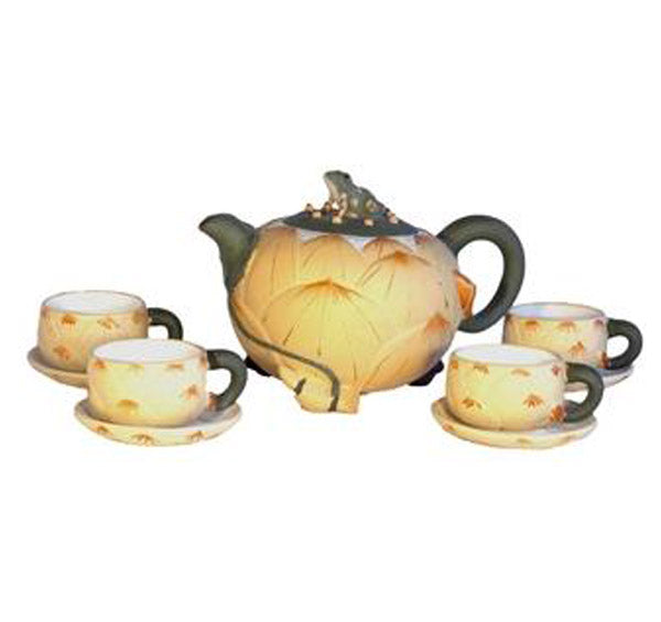 Frog on Lotus Tea Set