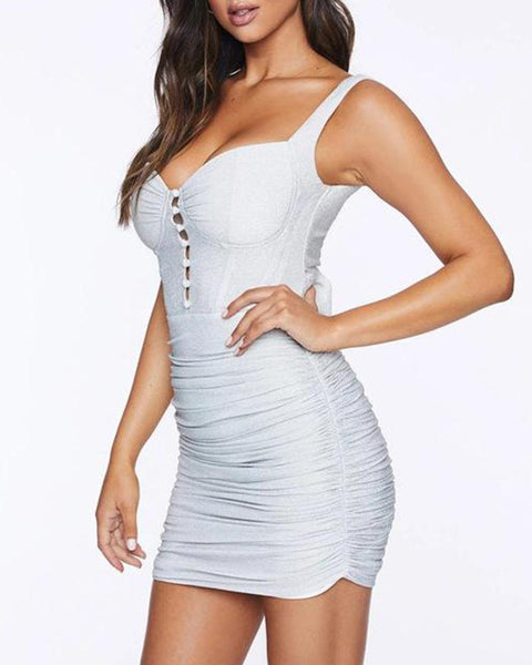 Bustier Detail Bodycon Mini Dress