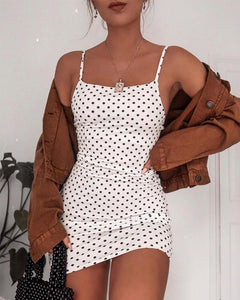 Square Neck Polka Dot Cami Dress