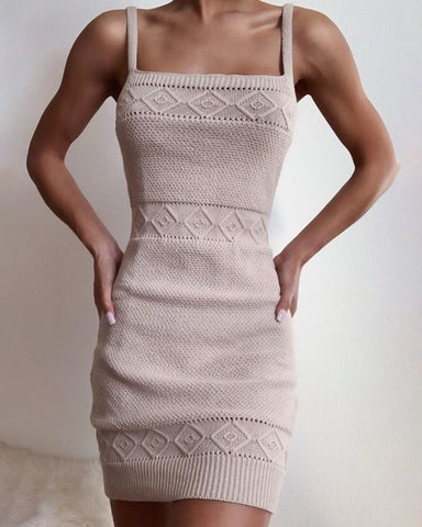 Knitted Cami Mini Dress
