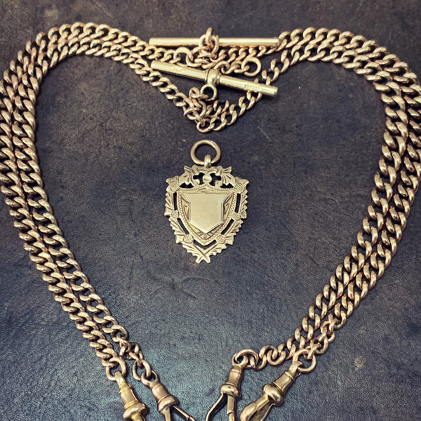 Antique Gold Double Albert Watch Chain