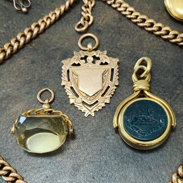 Antique Gold Watch Fobs