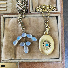 Moonstone and turquoise antique