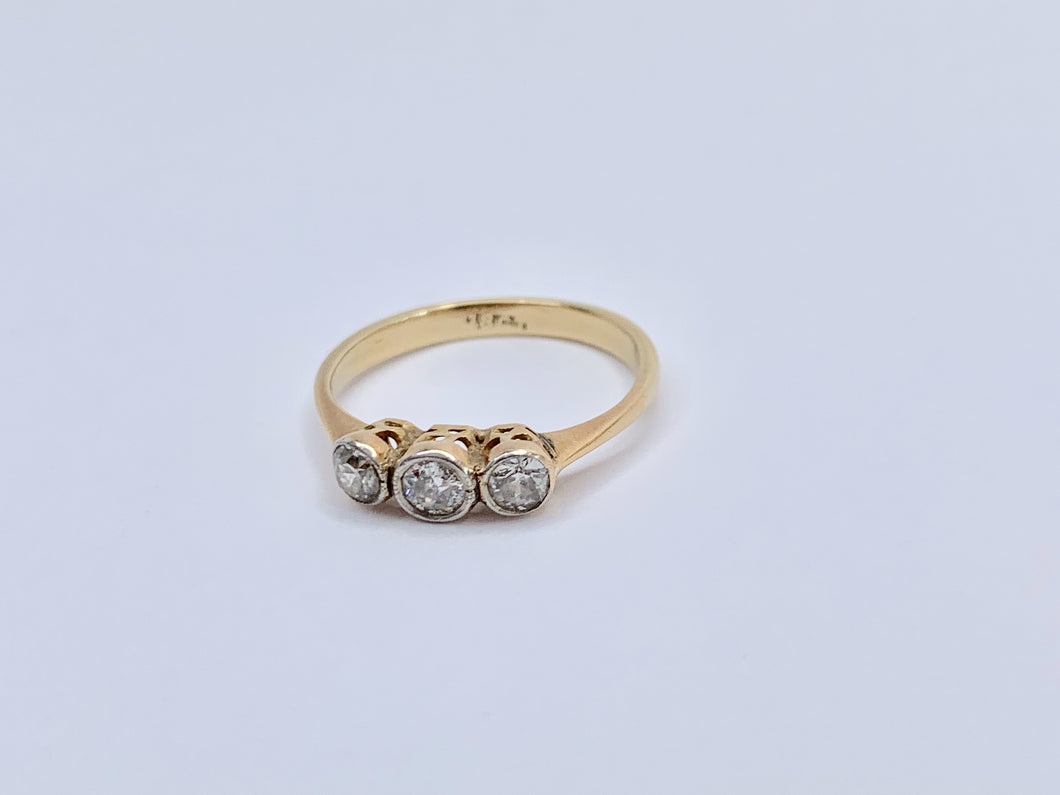 Edwardian 18ct Gold Diamond Engagement Ring