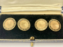 Load image into Gallery viewer, 14ct Antique Gold & Enamel Cufflinks