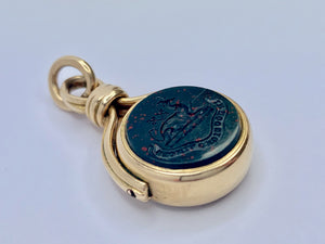 18ct Gold Edwardian Spinner Watch Fob - Pocket Watch Fob