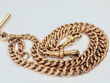 Load image into Gallery viewer, Antique 1920s 9ct Gold Double Albert Watch Chain