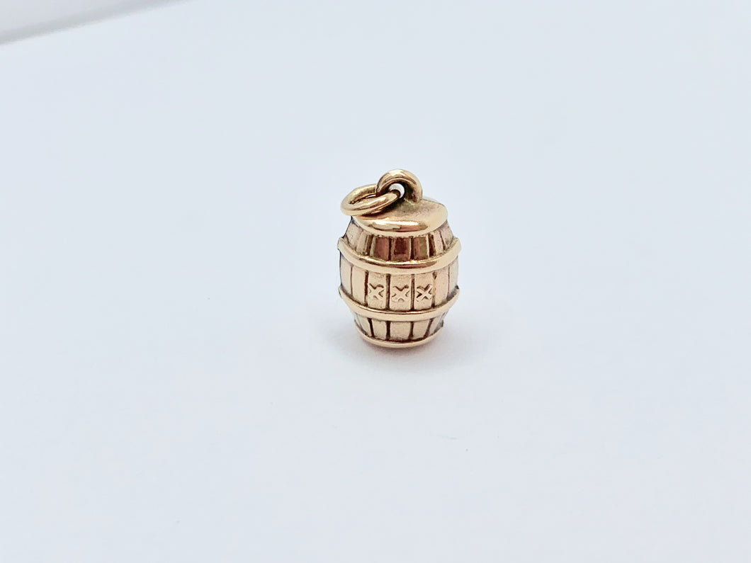 Vintage 9ct Gold Barrel Charm