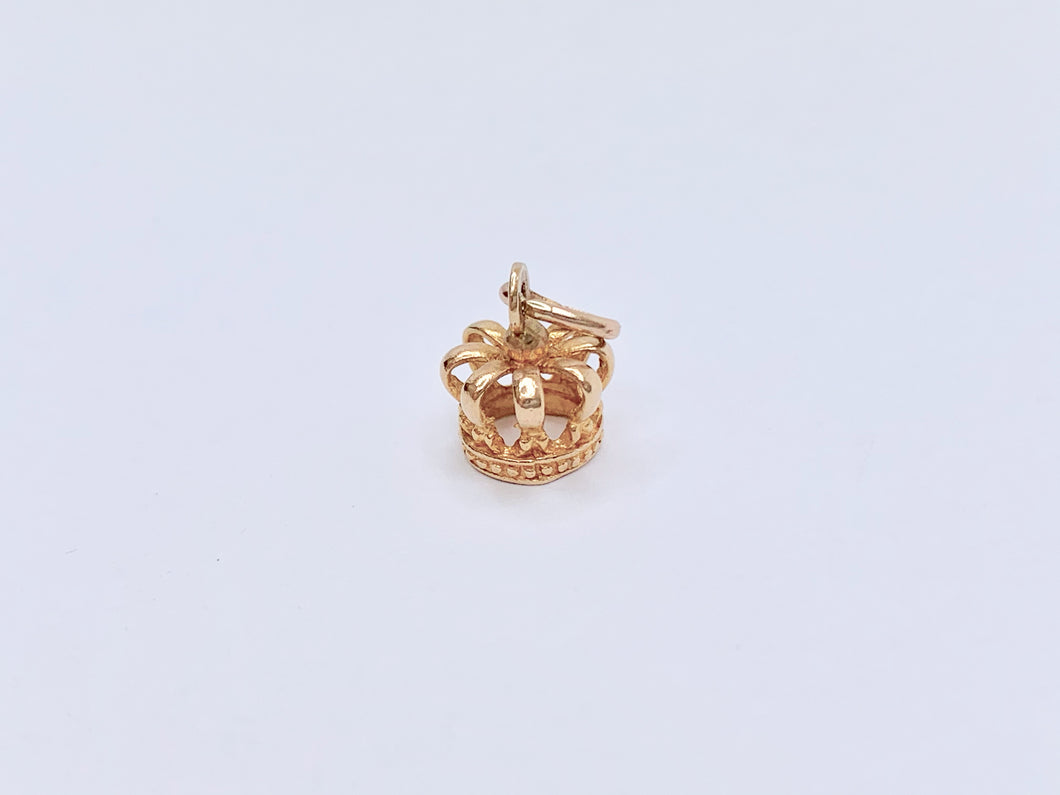 Vintage 9ct Gold Royal Crown Charm