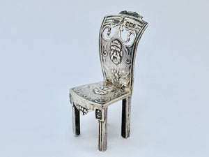 Victorian Silver Dutch Miniature Chair