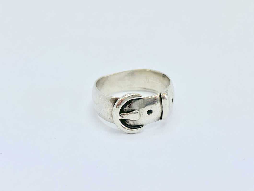Edwardian Silver Buckle Ring
