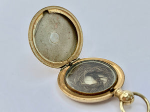 Victorian 9ct Gold Mourning Memorial Locket