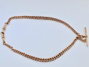 Antique 1920s 9ct Gold Double Albert Watch Chain