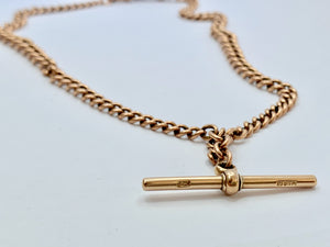 Antique 9ct Gold Double Albert Watch Chain