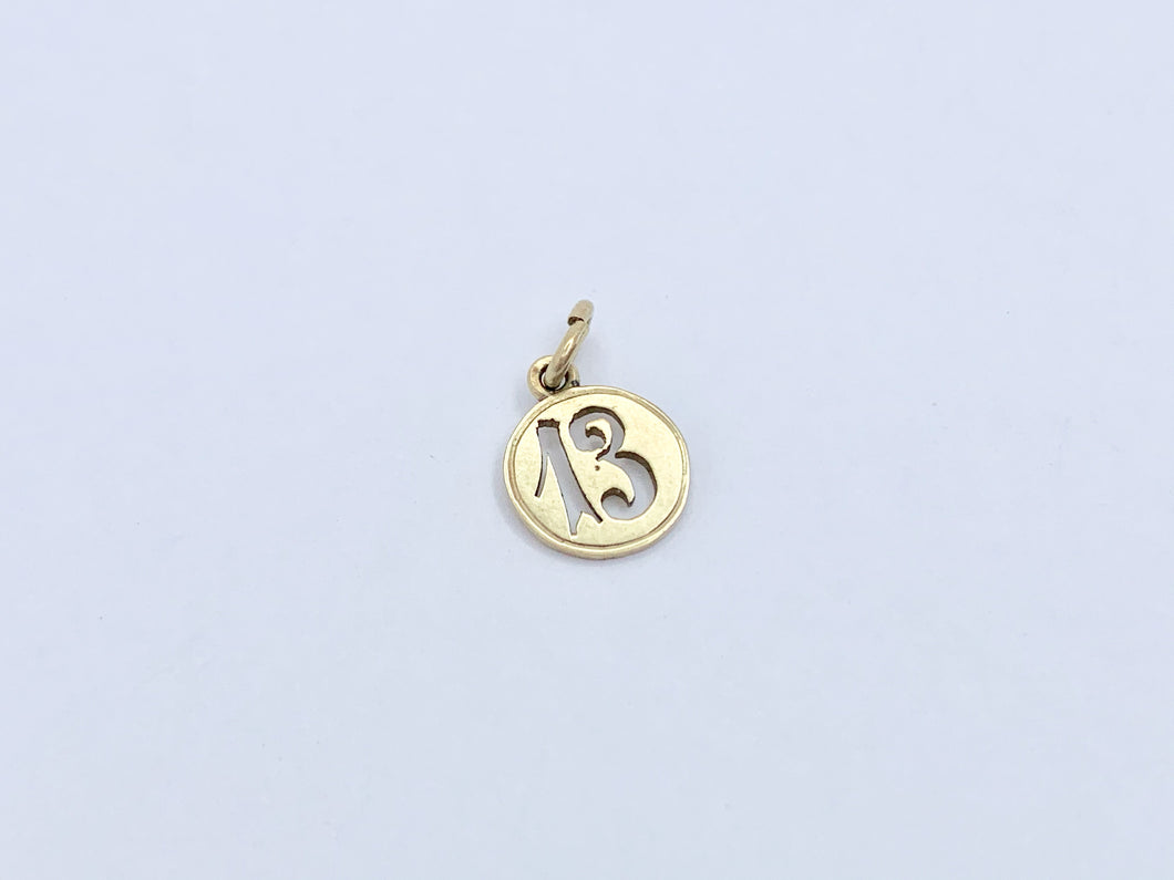 Antique 14ct Gold Lucky 13 Charm