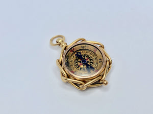 18ct Victorian Compass And Bloodstone Watch Fob