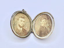 Load image into Gallery viewer, Antique Victorian Silver Amity Eternity Infinity Locket