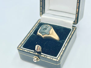 Victorian 18ct Gold Bloodstone Signet Ring