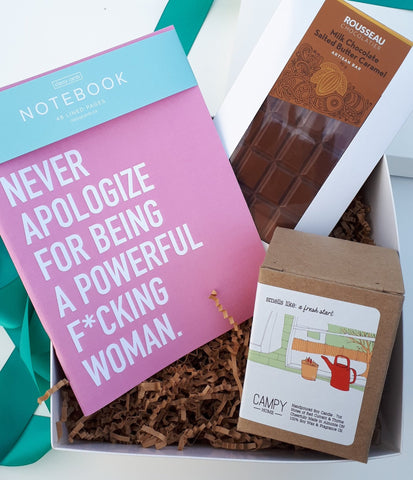 Amour No More Giftbox from Cheerfetti featuring a notebook, chocolate and candle