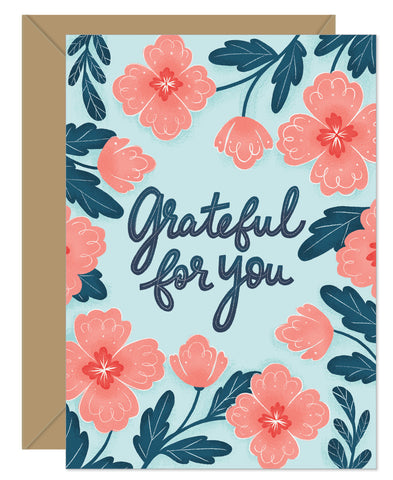 NEW! Grateful For You Dark Floral