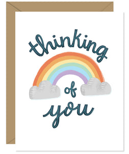 Thinking of you sympathy Card Hand-lettered & Illustrated card from the Hello Sweetie sympathy and encouragement line.