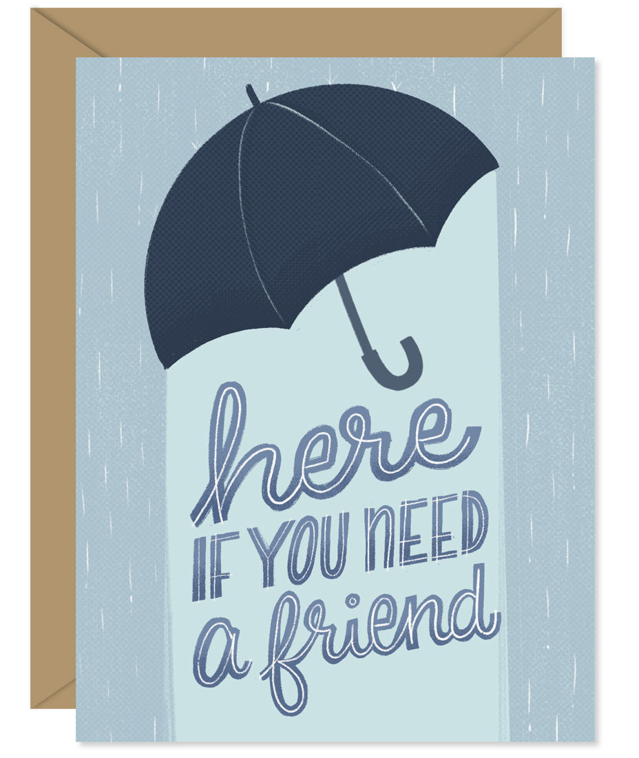 Here if you need a friend sympathy card and encouragement card Hand-lettered & Illustrated card from the Hello Sweetie sympathy and encouragement line.