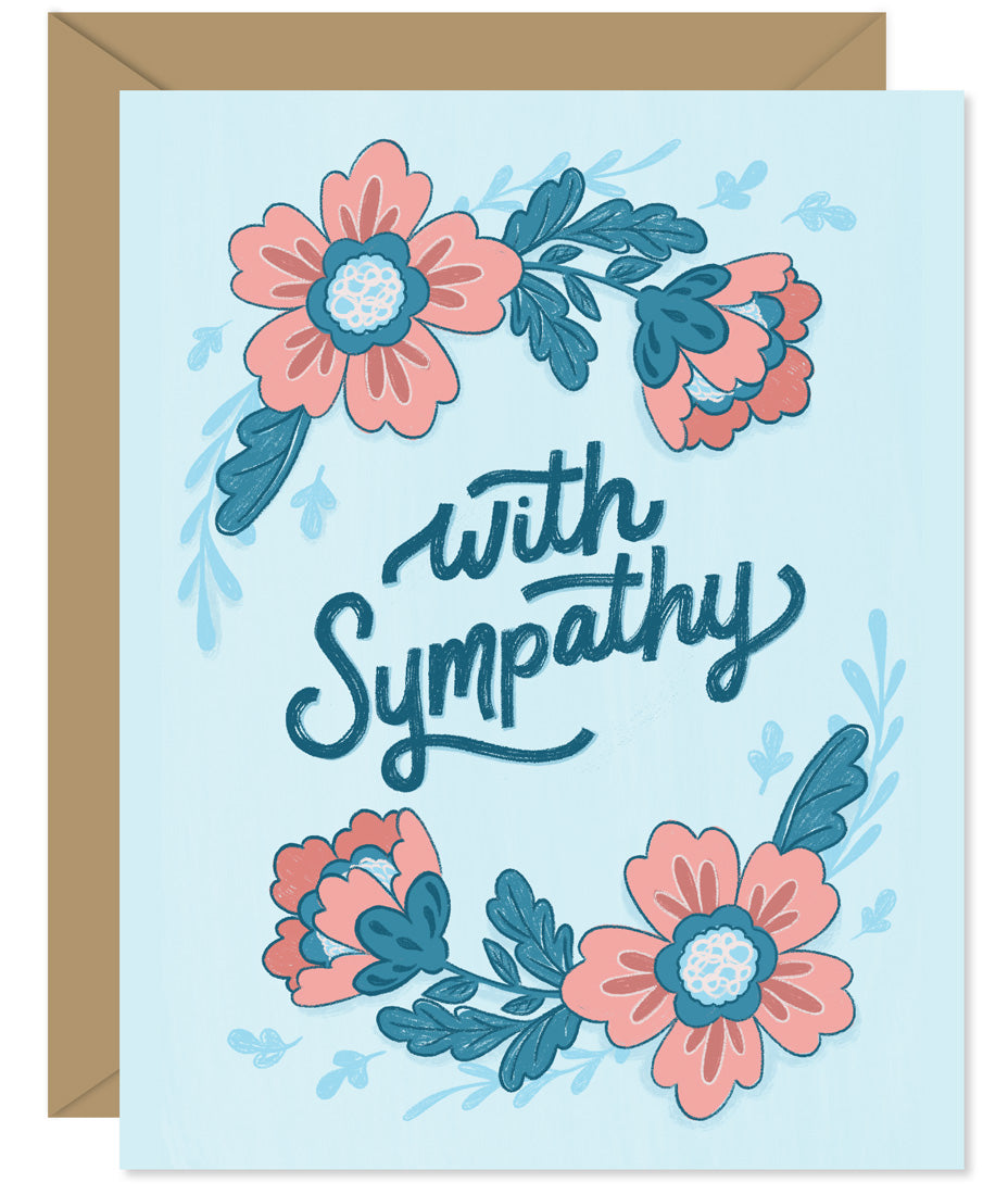 With Sympathy Card Hand-lettered & Illustrated card from the Hello Sweetie sympathy and encouragement line.