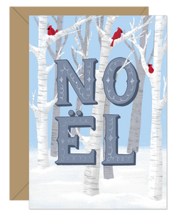 Noel Birch Forest Holiday Card