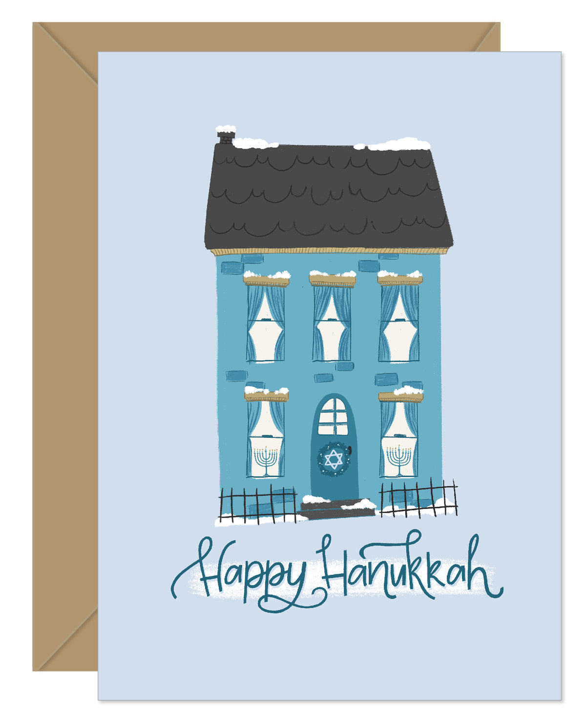 Light in the window Hanukkah Holiday Card