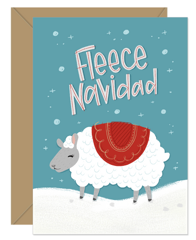 Fleece Navidad Funny Pun Holiday Card