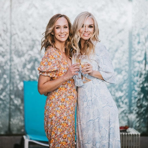 Co-founders cheers spring with champagne
