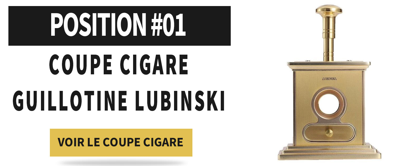Coupe cigare guillotine de bureau