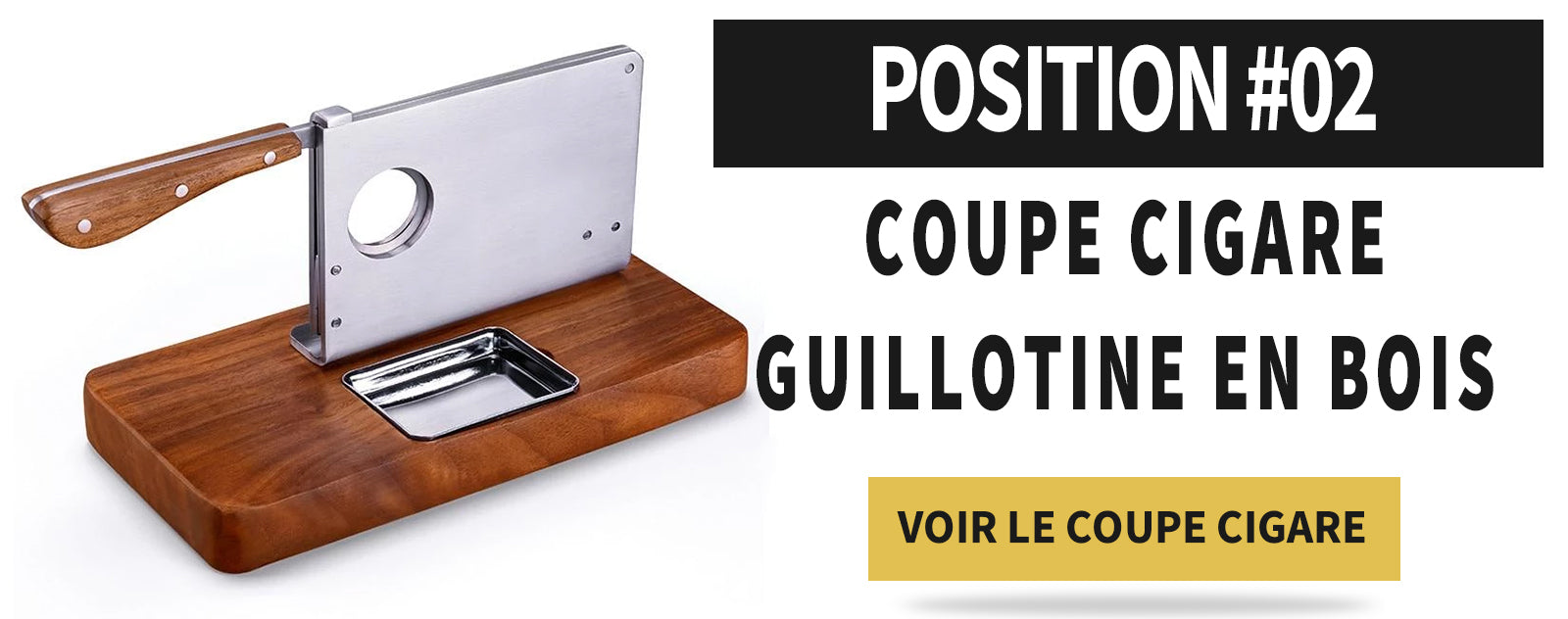 Coupe cigare guillotine en bois