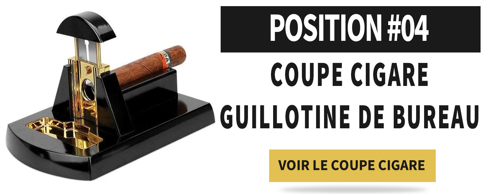 coupe cigare guillotine ancien de bureau