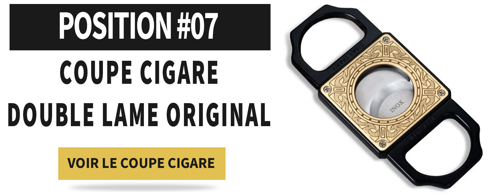 Coupe CIgare guillotine double lame original