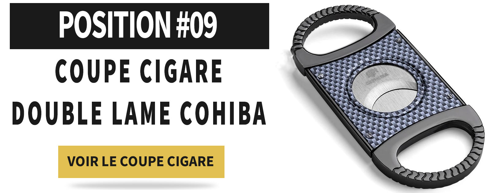 coupe cigare guillotine double lame
