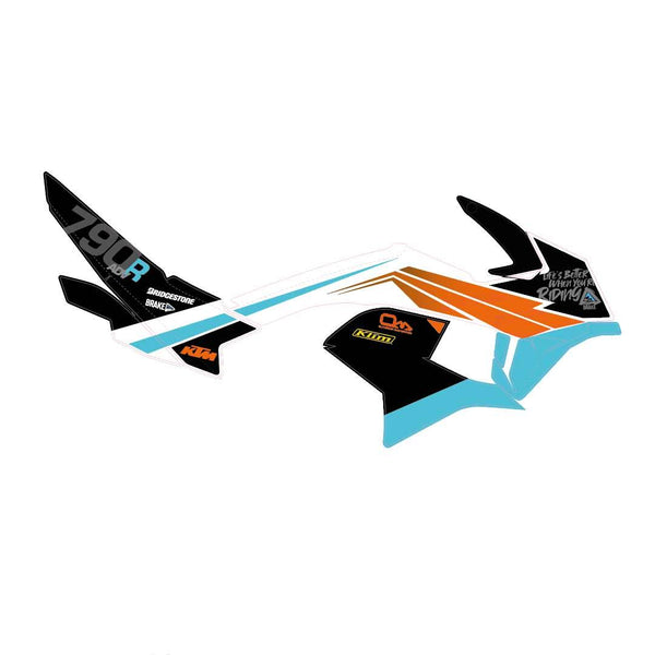 KTM 790/Graphics Kit - Teal & Orange