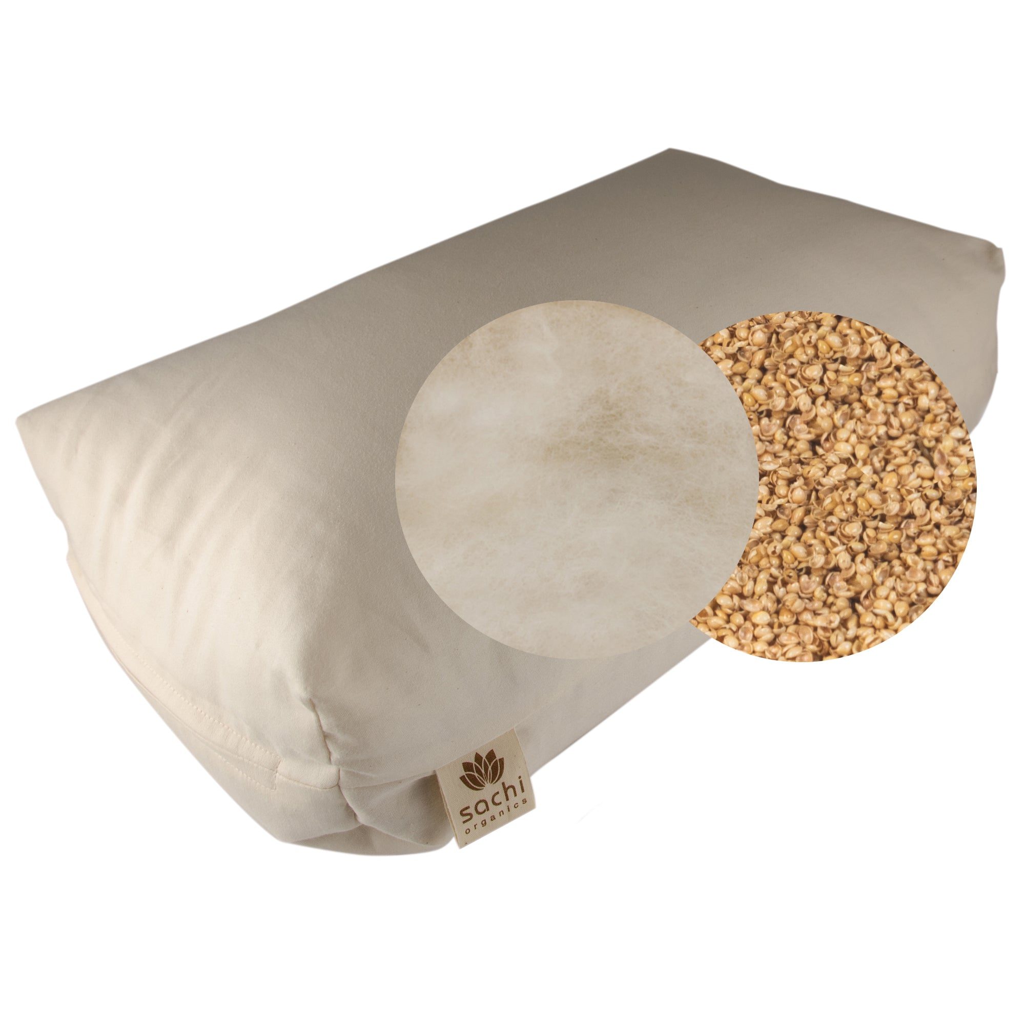 Shambho Pillow: Natural Wool & Millet