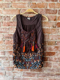 Brown akemi + kin Embroidered Top, S