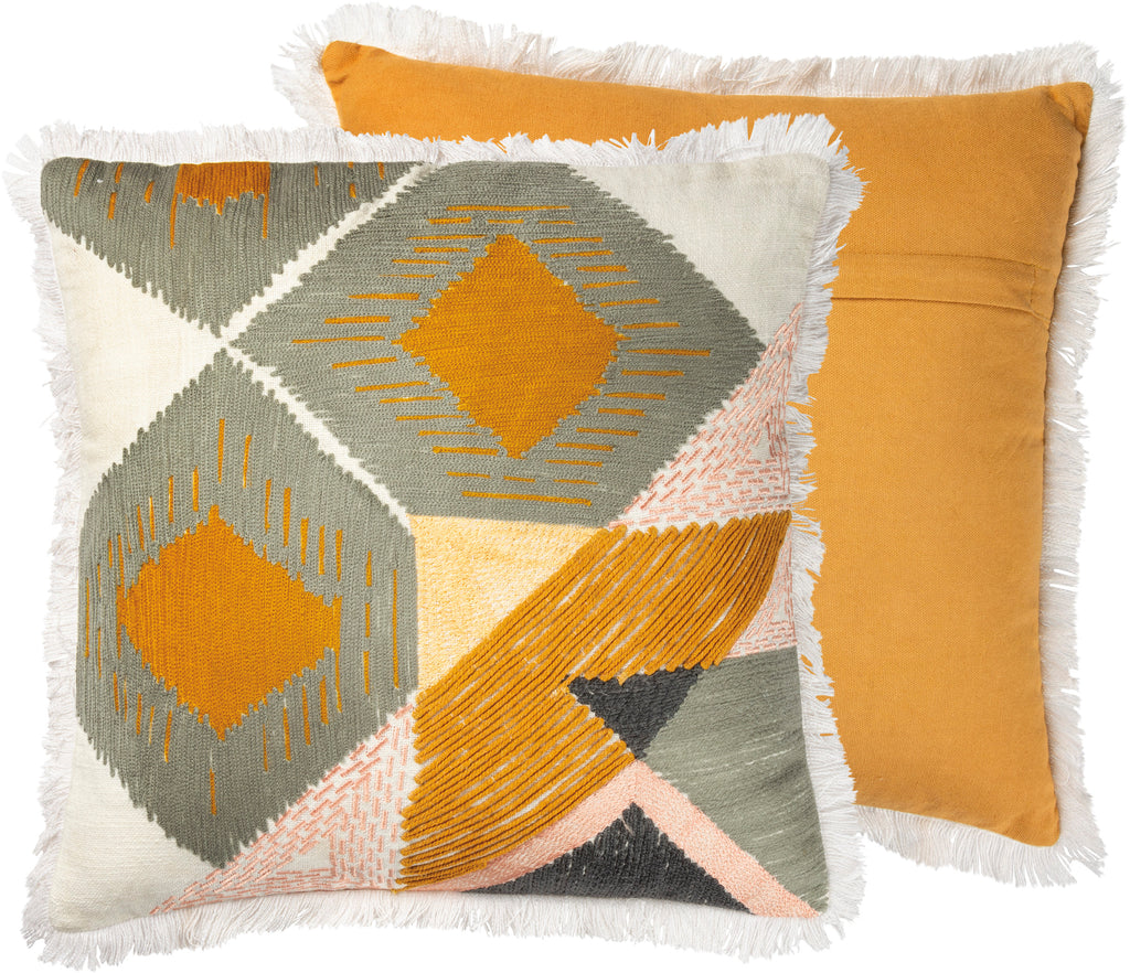 Gold/Grey Geometric Pillow