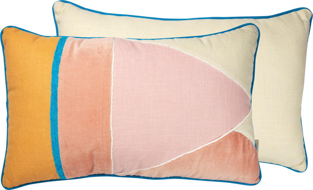 Pink/Gold Geometric Pillow
