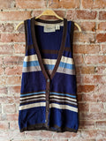 Navy/Brown Coincidence & Chance Sweater Vest, S