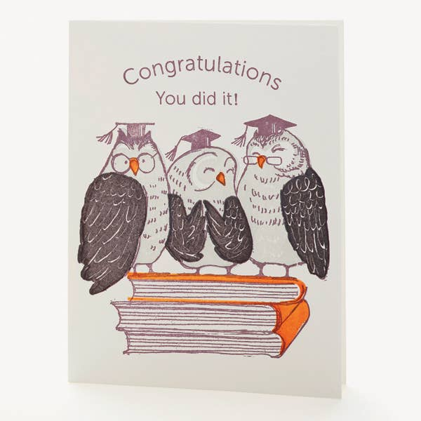 """Congrats You Did It"" Greeting Card"